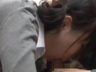 Young japanese babe Misaki Higashino gets fucked hard
