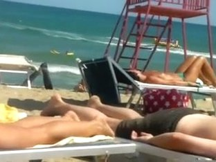 Voyeur On The Beach Topless Cuties Filmed