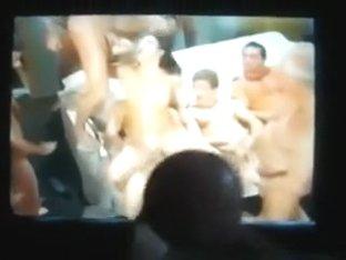 Amoral jerk enjoying a fine porn clip as this chap masturbates