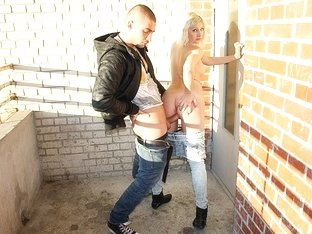 Golden-Haired in insane public fuck adventure