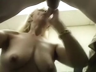 Golden-Haired sexy cougar gives me outstanding oral-stimulation job and receives mouthful of cum