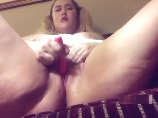 Pumping up my clit and letting Daddy watch me squirt