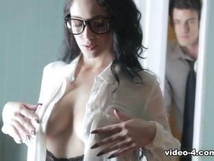 Exotic pornstar Noelle Easton in Crazy Brunette, Secretary xxx clip