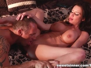Amazing pornstar in Hottest Blowjob, Brunette sex clip