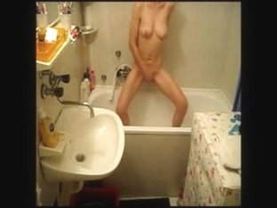 Caught my s ister fingering in bath room