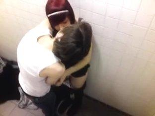 voyeur catches emo teenies fooling around in pub bath