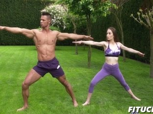 Angel Rush In Yoga beauty has most intense fuck