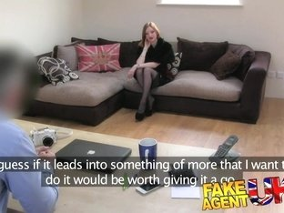 FakeAgentUK Sexy Fetish girl with great tits orgasms