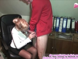 secretary milf bi-jenny fuck young trainee in office