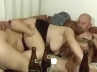 two German Girls drinking and fuckin