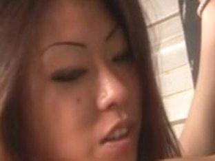two oriental gorgeous lesbos into thrashing