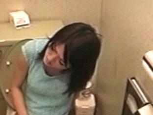 Japanese lavatory masturbating hidden livecam 6