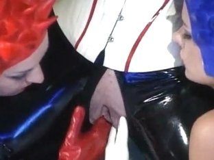 Shaved Latex Fisting