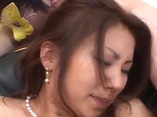 Nana Nanami Asian gets many vibrators on body from mask