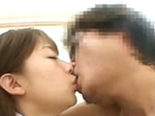 Nice japanese girl enjoys facials