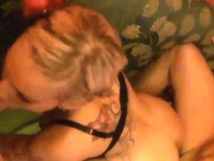 Busty blonde gets fucked and facialized in HD