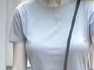 Candid voyeur video with milf wearing no bra down blouse 05zr