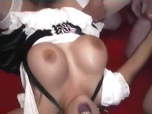 I get a big facial cumshot in big amateur breasts vid