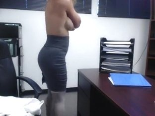 KatsAtease: She gets naked a walks around her office