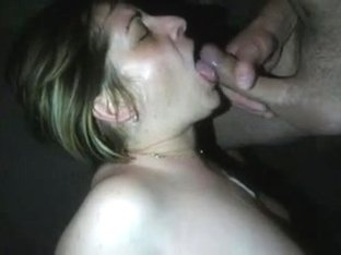 Wife getting drilled and takes paramours cream in throat