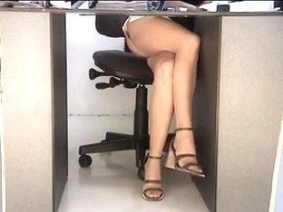 Candid Voyeur Non-Professional Upskirt Filmed at Office On Hidden Web Camera