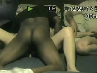 My hard ebony cock in Ann's yum-yum