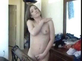 Short-haired wife gets naked