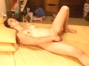 Hidden camera catching her fuck her self with dildo
