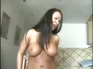 Busty Thai Babe Fucks Self With A Dildo