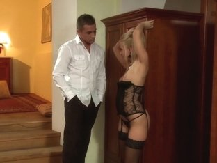 Incredible pornstar Carla Cox in amazing lingerie, facial sex clip