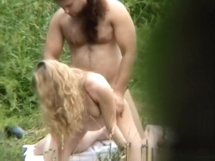 Blonde girl fucked in nature