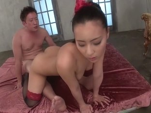Hottest Japanese whore Ren Azumi in Fabulous JAV uncensored Stockings scene