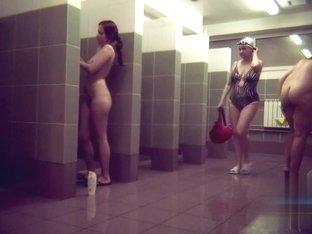Hidden cameras in public pool showers 823