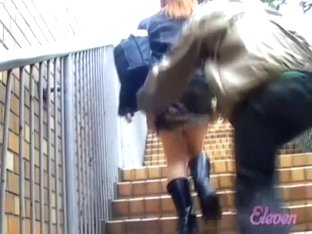 Fine Japanese ass shown in a smutty sharking video