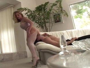 Hottest pornstar Aurora Snow in incredible blowjob, blonde sex movie