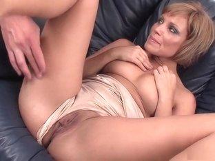 Exotic pornstar Sylvia Laurent in best facial, blonde sex clip