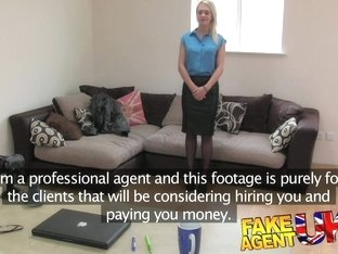 FakeAgentUK Hot British chick doubts agent in hardcore