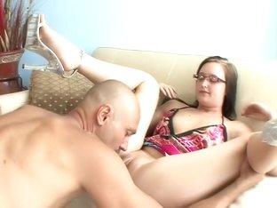 Horny pornstar Blaire Banks in incredible blowjob, cunnilingus porn clip