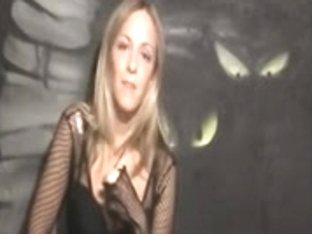 Lovely blonde in hot lingerie teases POV sex style