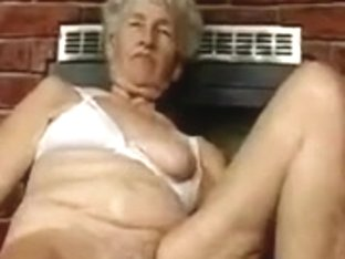 Unshaved Granny with dildos