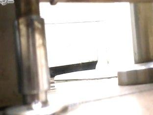 Hidden camera watching twats spreading to pee
