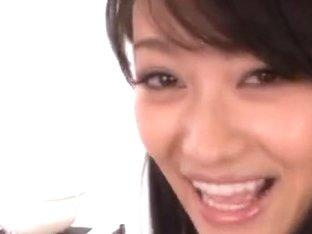 Shou Nishino Pretty Asian model shaves pussy