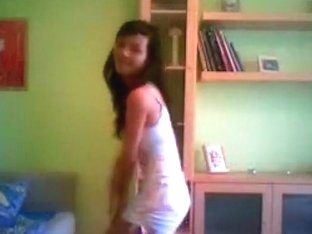 Spanish girl dancing at home