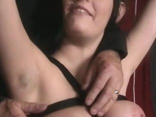 Boobs bondage is making her horny