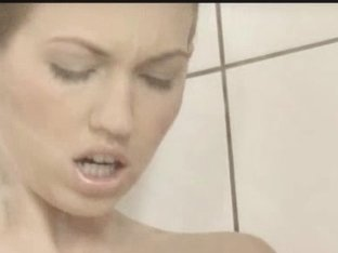 Reaching orgasm in the delicate shower