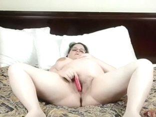 Fat woman of my friend masturbates in her bedroom