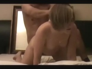 Gorgeous golden-haired slut has her fetish for doggy style sex