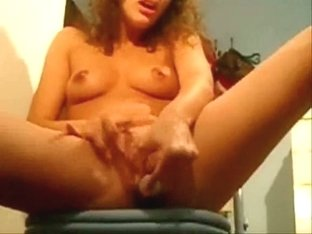 Horny girl masturbates to orgasm