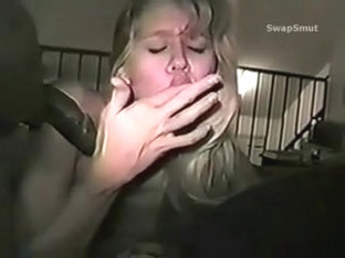 Agreeable golden-haired wife takes a darksome snake