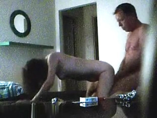 Hot amateur couple having missionary cowgirl doggystyle sex in bedroom